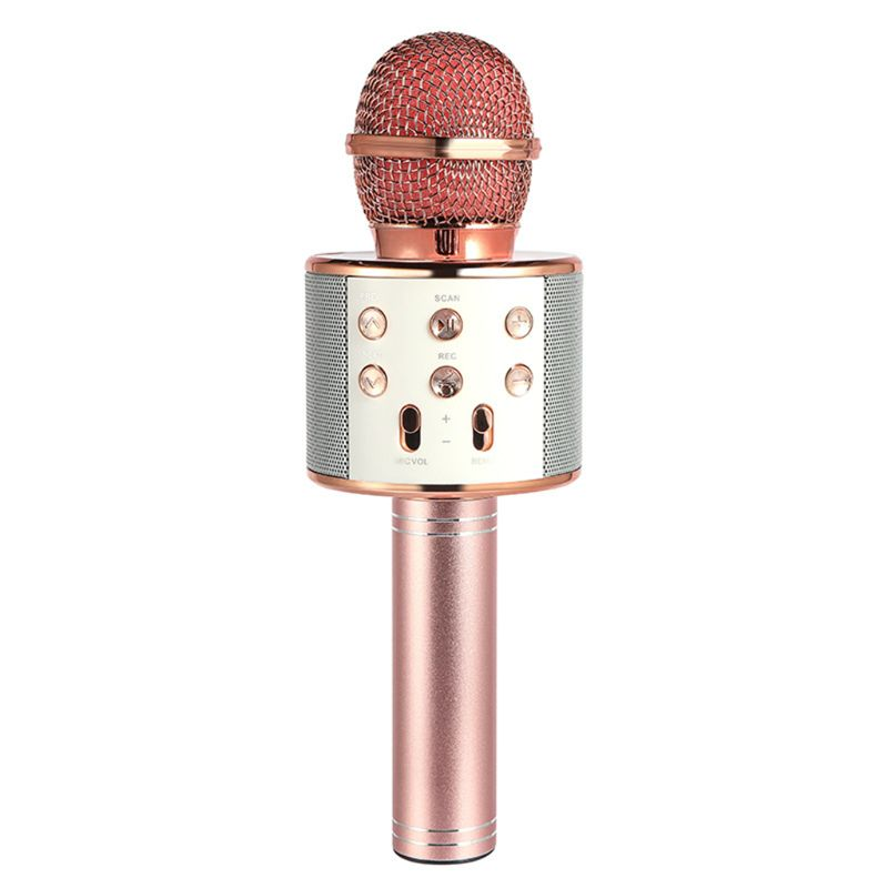 High Quality Wireless Portable Handheld Bluetooth Karaoke Microphone Singing Machine