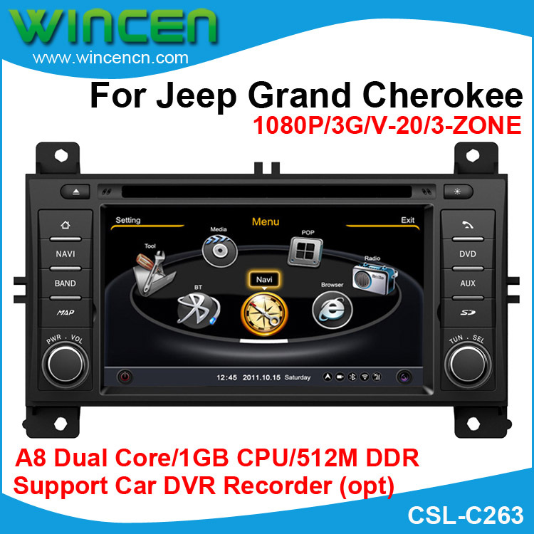 S100 A8 Dual Core 1080P Car DVD GPS Player for Jeep Grand ...
