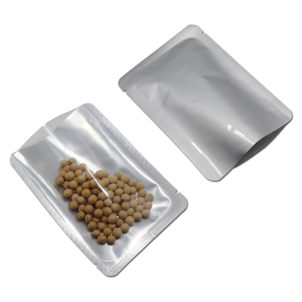 Sac en aluminium Mylar pur DHL sac d'emballage en plastique transparent pour aliments secs paquet de café emballage thermoscellé sac en aluminium sous vide