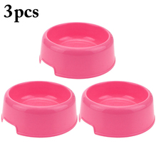 Pet Bowls Candy Color Single Bowl Multi-Purpose Plastic Round Shape Feeding Cats Dogs Feeder Dropshipping