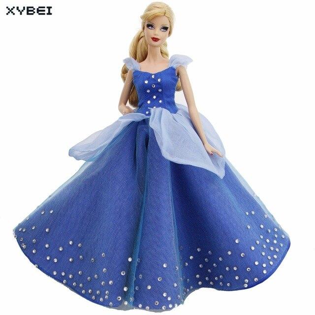 Indah Putri Gaun Pernikahan Pesta Dansa Bola Gaun Copy Cinderella Pakaian  untuk Boneka Barbie 11.5 12 669a2fb87b