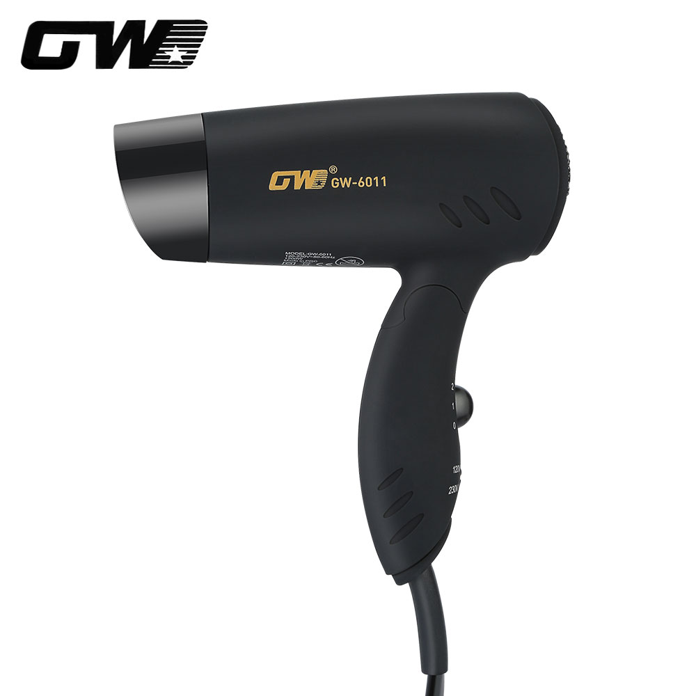 все цены на Guowei GW-6011 Professional Electric Mini Hair Dryer Foldable Handle Portable Compact Travel Hair Styling Blow Dryer
