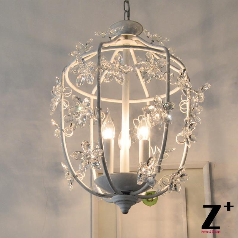 French Country Style Vintage K9 Flower Crystal Rococo