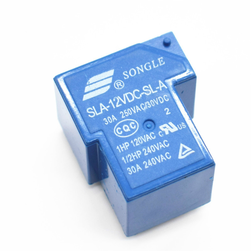 US Stock 2pcs T90 Coil Relay 12VDC 30A 250VAC 30VDC 6 pin 1NO 1NC SLA-12VDC-SL-C