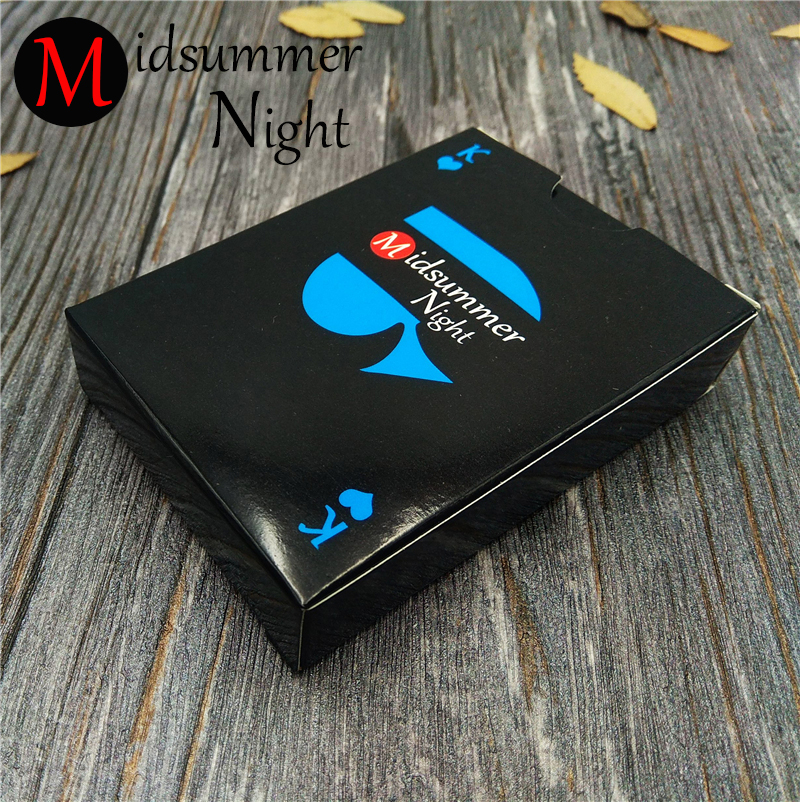 Playing cards pure black color poker cards poker sets classic magic tricks tool 54pcs/deck waterproof plastic pvc