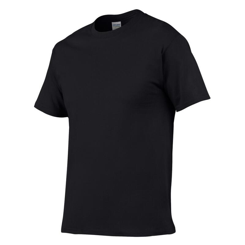 100% Cotton T Shirt Mens Black White