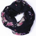Guttavalli New Women Fashion Print Plum Blossom Infinity Scarves Winter Chevron Loop Shawl Female Flower Ring Plant Scarf