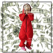 Salvador Dali Cosplay film maska pieniądze Heist dom papieru La Casa de papel kostium Cosplay maska dla dzieci dorosły tanie tanio Costumes Kombinezony Rompers DLFZ004 Mężczyzn Poliester Movie TV Sets WaterMonkey