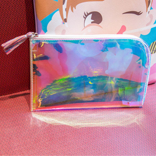 Brand Lucency Makeup Bag Women Cosmetic bag Case Laser Make Up Storage Organizer Toiletry Bag Fashion Girls Travel Wash Pouch new women fashion pu leather cosmetic bag high quality makeup box ladies toiletry bag lovely handbag pouch suitcase storage bag