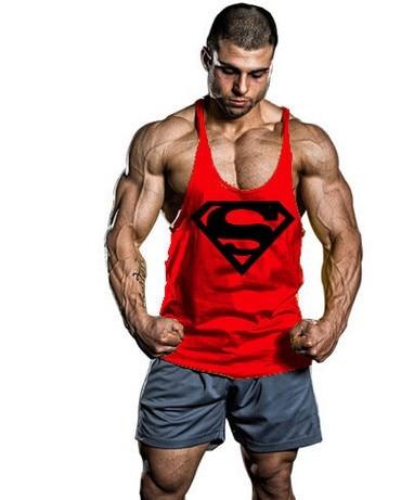 2018 Nya Superman Gym Singlets Mens Tank Tops Skjorta, Bodybuilding - Herrkläder - Foto 5