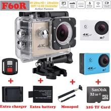 Venta caliente F60/F60R Ultra HD 4 K Cámara de Acción Wifi 2.0 pantalla de 170 pulgadas de Ancho Lente 30 M impermeable cámara de Acción gopro hero 4 estilo