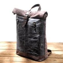 MUCHUAN новые дизайнерские холщовые рюкзаки для мужчин водонепроницаемые Рюкзаки большой емкости Дорожные рюкзаки винтажный рюкзак