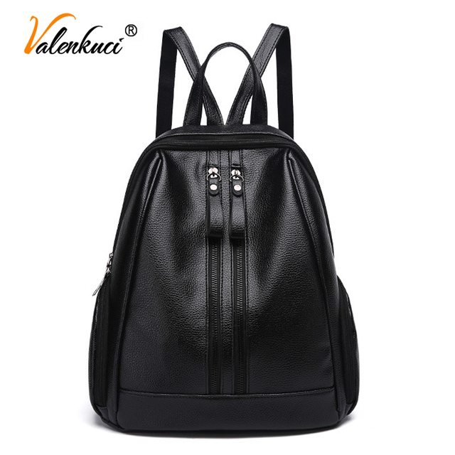 1aaea2bbf3 drop shipping women backpacks fashion leather lady black backpack girls  travel bags school bag backpack for girl BD-231