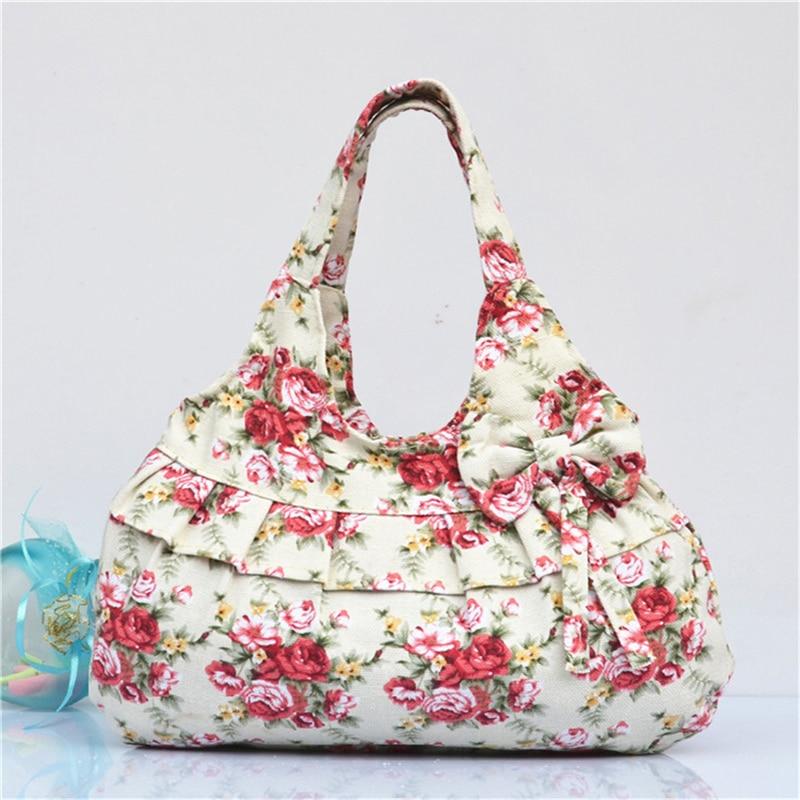: Buy 2017 New Design Floral Flower Leopard Print Women Canvas bags ...