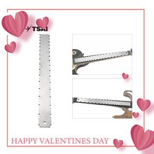 TSAI Stainless Steel Guitar Straight Edge Measure Tool For Electric Guitars Neck Notched Fretboard and Frets Fingerboard(China)