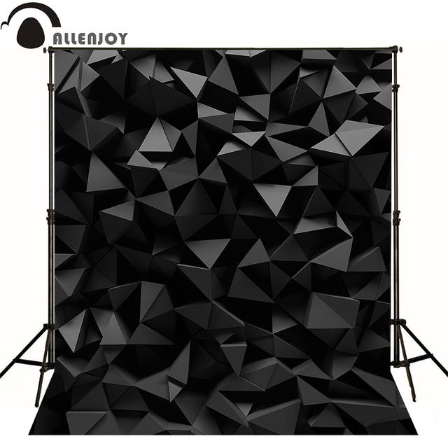 Allenjoy Professional photography background Mysterious black diamond 3D party backdrops photophone vinyl fabric photocall