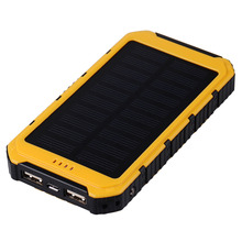 Solar Portable 8000 mAh Mobile Power Bank Rechargeable External Soloar Battery Backup Pack for Smart Phones with charing cable