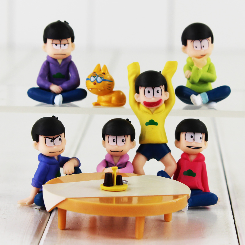 NEW 6pcs/set Doraemon Nobi Nobita Toy figure Nobita Pvc Action Figures Doll Toys 20cm Box Packaged Retail