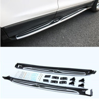 2pcs/Set For Car Aluminum alloy + ABS Running Board Side Step Nerf Bar Guard Fits For Ford KUGA 2013 2019|Nerf Bars & Running Boards|   -