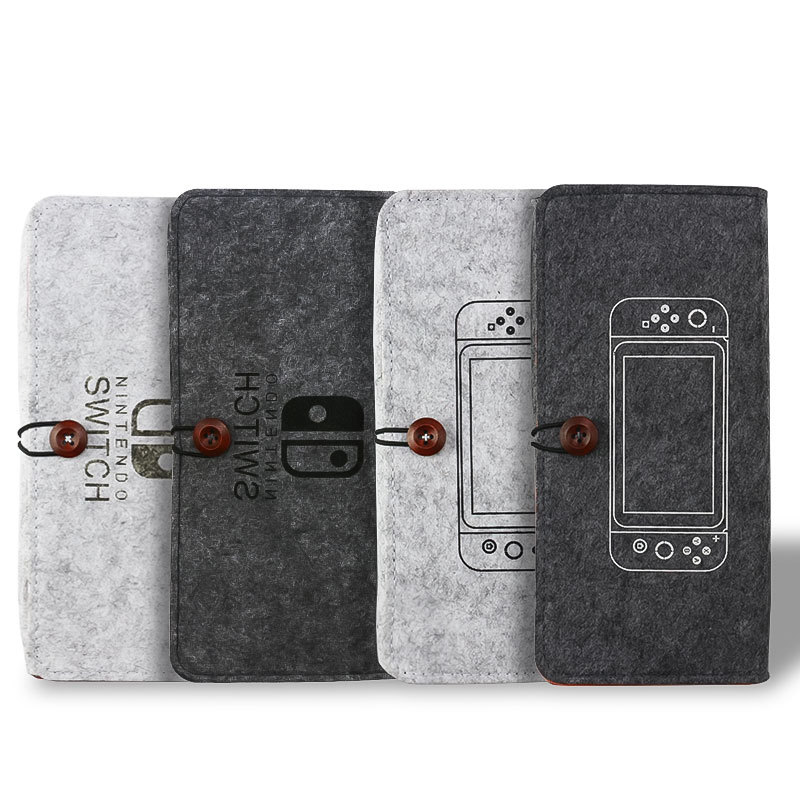 Free Shipping Nintend Switch Durable felt Carrying Pouch Case Ultra Slim Professional Protect Storage Bag for Game Accessories