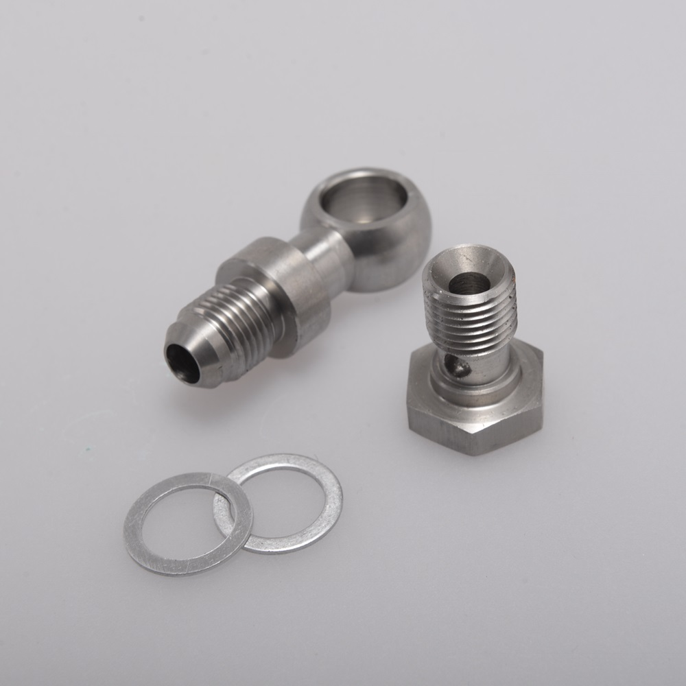 """Banjo Fitting Kit for coolant lines 14mm to 1//4/"""" NPT GT25//GT28//GT30//GT35//GTX"""