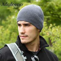 Chapeau d'hiver de qualité Adofeeno pour hommes bonnets Skullies mode chaud casquettes élasticité tricoté Bonnet Bonnet chapeaux livraison directe