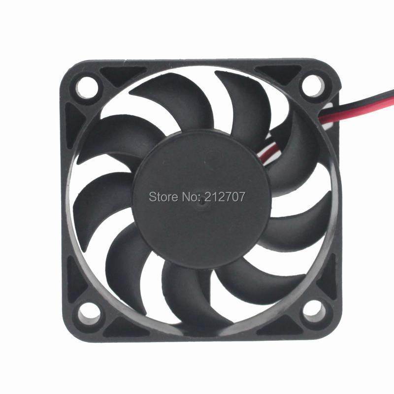 5 шт. Gdstime Бесщеточный вентилятор охлаждения постоянного тока 12 В 2Pin 5010 50 мм 5 см 50x50x12 мм