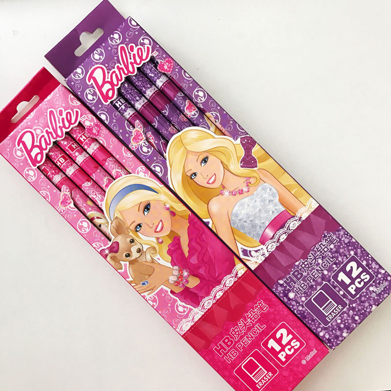 Wood Pencil Stationery Drawing-Tool Office-Supply Gift Long-Handle School Kids Princess