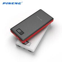 Оригинал Pineng 20000 мАч Мощность Bank Dual USB Портативный Батарея мобильный литий-полимерный Зарядное устройство Мощность банк со светодиодным индикатором для iphone7