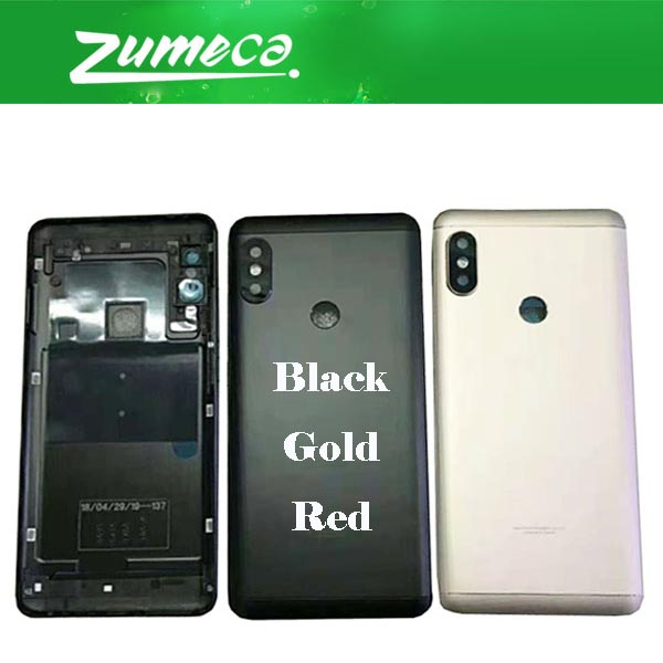 AAA+ Quality For Xiaomi <font><b>Redmi</b></font> <font><b>Note</b></font> <font><b>5</b></font> Note5 Note5 <font><b>Pro</b></font> <font><b>Redmi</b></font> <font><b>Note</b></font> <font><b>Battery</b></font> <font><b>Cover</b></font> Housing Case Door Rear Glass Black Gold Red Color image
