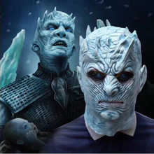Latex Funy Full Head Game of Thrones Season 8 Night's King Mask Costumes Cosplay For Funny Carnival Halloween Party Costume(China)