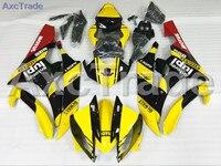 รถจักรยานยนต์FairingsชุดสำหรับYamaha YZF600 YZF 600 YZF-R6 R6 2006 2007 06 07 ABSฉีดF Airingตัวถังรถสี