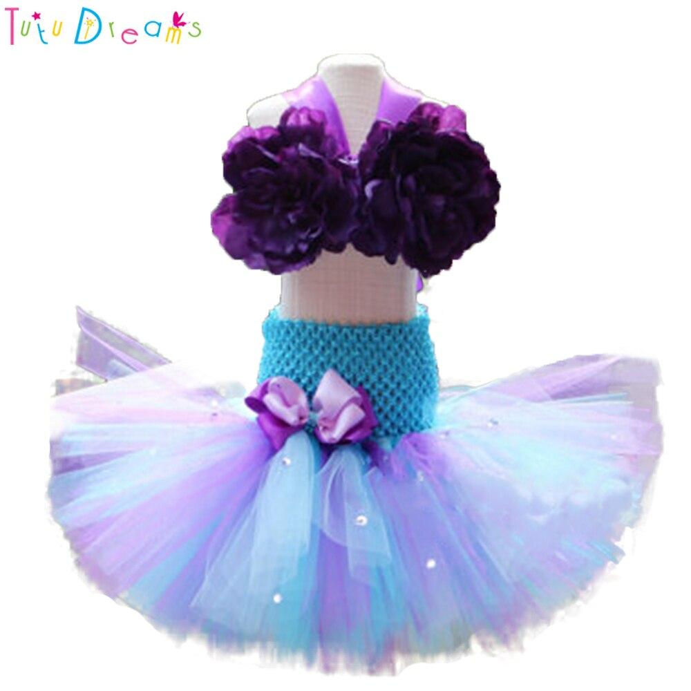 Princess Little Girl Mermaid Fish Tail Tutu Dress Infant -7425