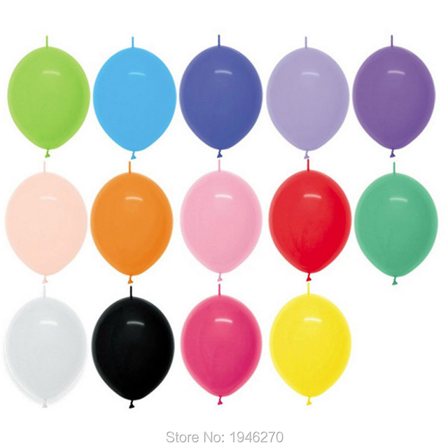 100pcs Lot Link Balloons 6inch Wedding Party Decorations Tail Ballon Home Garden Event