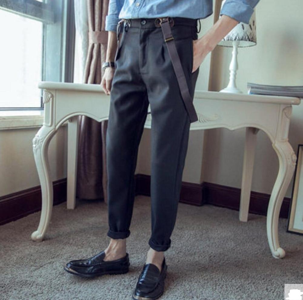 Murah Dan Fashion Musim Gugur Remaja Busana Suspender Celana Ramping Setelan Baju Lengan Panjang Ampamp Jeans Lr 118c Kasual Pria Pensil Overall M 3xl Di Dari