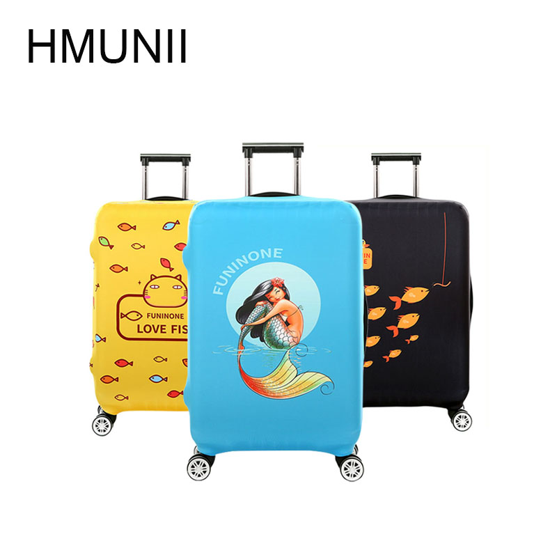 HMUNII Luggage Protective Cover For 18 to 32 inch Trolley suitcase Elastic Dust Bags Case Travel Accessories Supplies Gear Item