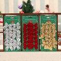 12 шт. с красивым бантом Рождественские елочные украшения для фестиваля вечерние дома Bowknots шары Новый год Декор - фото