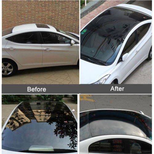 Glossy Black Car Sunroof Wrap Roof Film Vinyl DIY Sticker Waterproof Air Release 1.35x3m hot sale 1 35x15m air release channel car velvet fabric film velvet vinyl car wrap red
