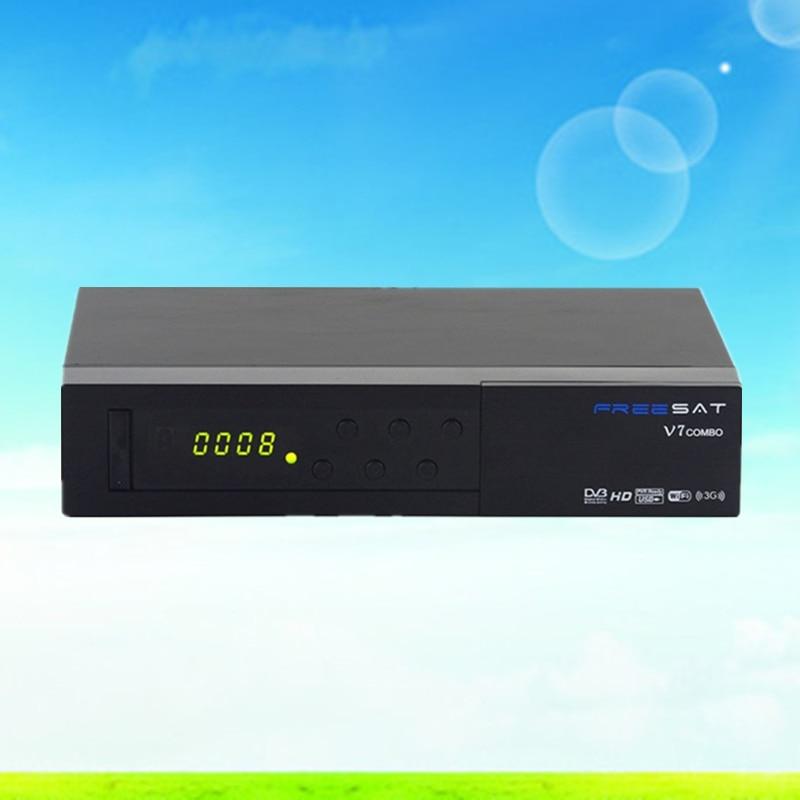 Satellite Receiver FREESAT V7 COMBO S2 T2 digital Decoder Support USB WIFI Yo 1080P Full HD
