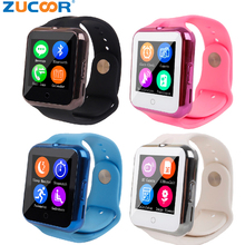 Heart Rate Monitor V88 Smart Watch Support GSM 2G SIM TF Card Smartwatch Sync Notifier Wristwatch Sport Clock for Kid Boy Girl