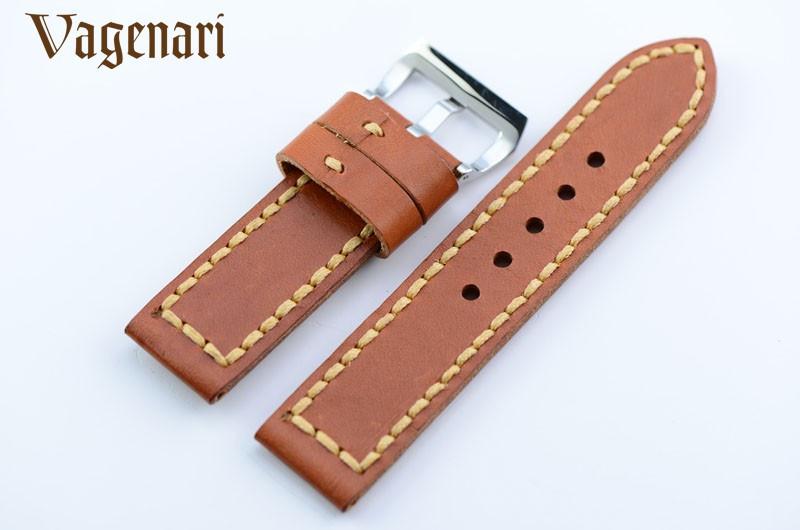 021 коричневый ручной работы из естественной кожи ремейк инструменты телячьей кожи реванш для часов 24 мм для пам
