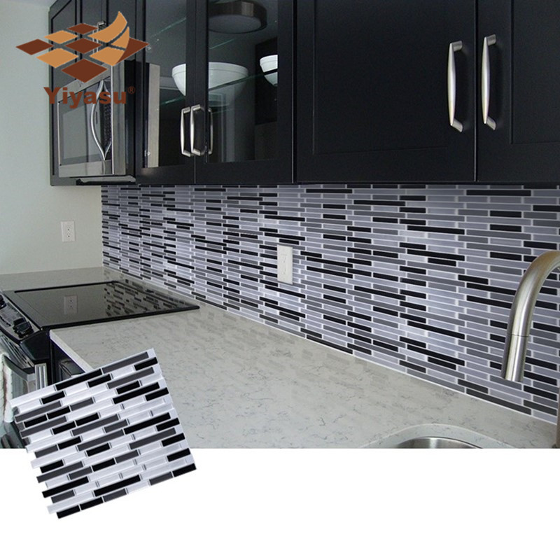 Mosaic Self Adhesive Tile Backsplash Wall Sticker Vinyl Bathroom Kitchen Home Decor DIY W4(China)