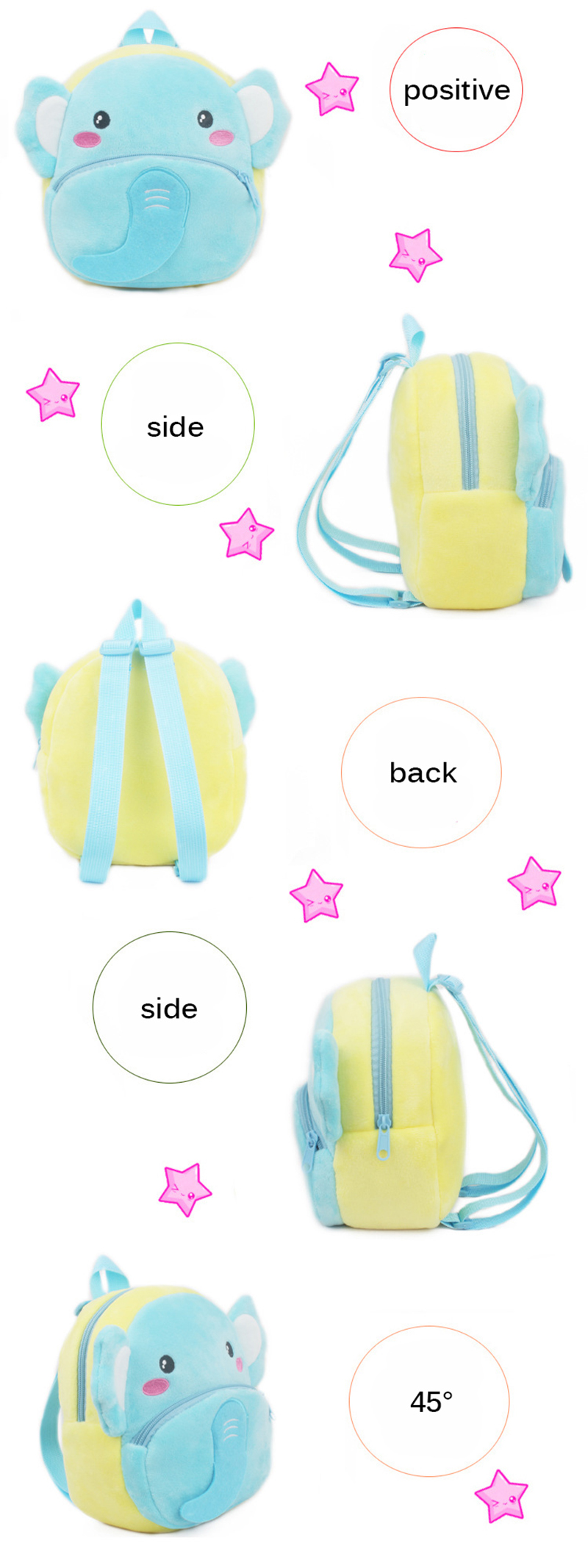 Kids Plush Backpack Cute Cartoon Zoo Animals School Bag Kindergarten Baby Panda Rabbit Unicorn Plush Bag for Boys Girls Bag Toy (3)