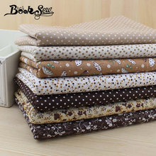 FREE SHIPPING 7 pieces 50cm*50cm Cotton Fabric Fat Quarter Bundle Vintage Brown Quilting Patchwork Tilda Sewing cheap fabrics(China)