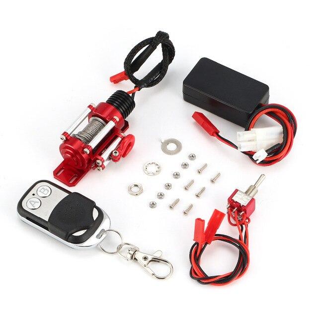 金属鋼ウインチシステムとワイヤレスリモートムワイヤレスコントローラーパッド用 1/10 トラクサス HSP Redcat HPI タミヤ CC01 RC 車クローラ