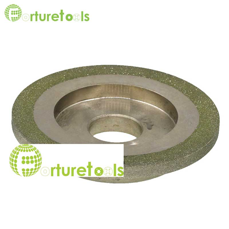Diamond coated grinding wheel electroplated abrasive wheel for punch machine 4 inch 100mm diameter 25.4mm hole E020 1 piece electroplated diamond coated abrasive grinding wheel of round n straight edge for 3 12mm glass shape edging machine tz74