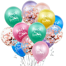 15Pcs Colorful Back to School Latex Balloons Confetti Balloon Decoration Classmates First Day Back to School Party Supplies цена и фото