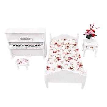 1/12 muebles de casa de muñecas simulación Mini juego de cama miniatura sala de estar accesorios para casa de muñecas niños simular juego de rol juguete M50 #