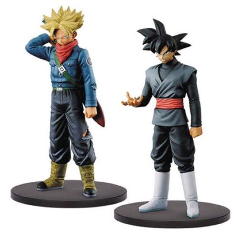 Dragon Ball Super SS Trunks Black Goku Figure DXF The Super Warriors Vol. 2 Collectible Mascot Toys 100% Original dragon ball dxf the super warriors vol 3 super saiyan rose gokou black and vegetto pvc figure collectible model toys kt4201