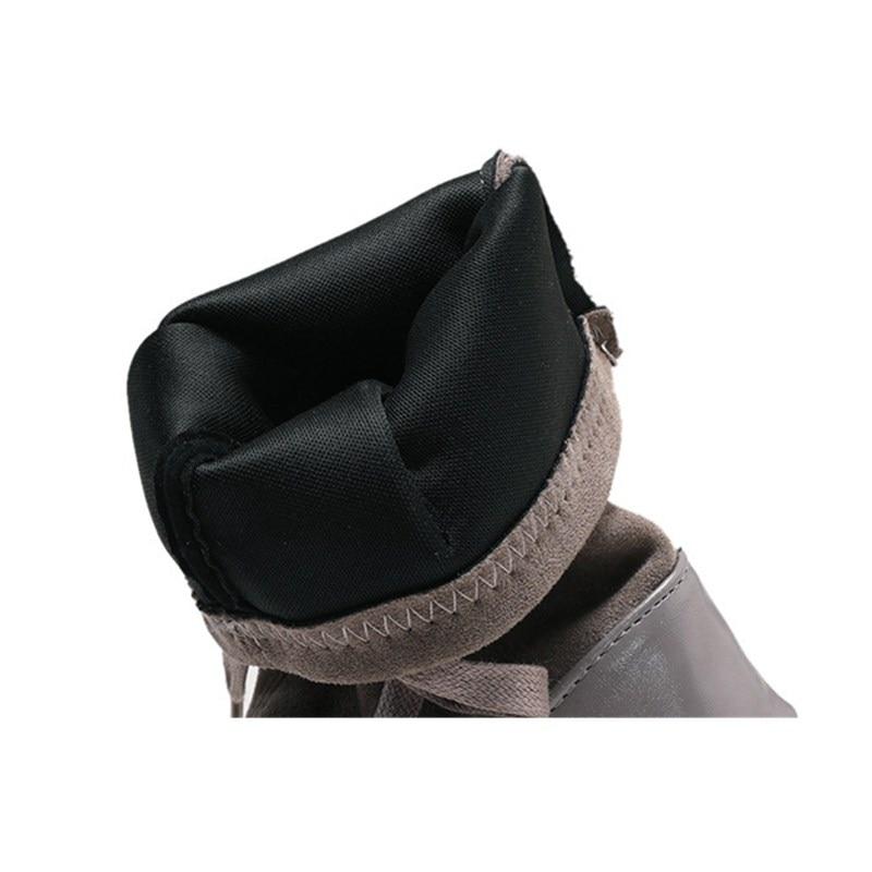 Dentelle Solide Sourire Troupeau style Nouveau Laies Femmes Xiaying Casual Hiver Mi 2 1 up Fahsion Pointu Chaussures Style mollet Bottes Bout 4TqvZ